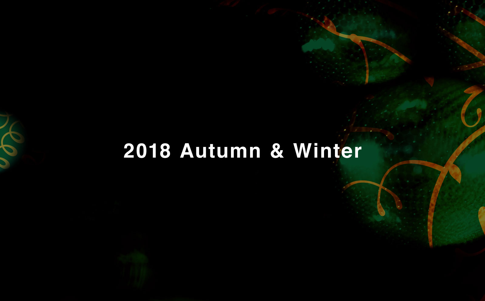 2018 FALL & WINTER